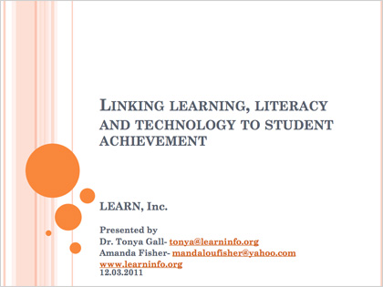 Linking Learning Literacy and Technology to Students Achievement